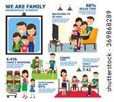 family infographics elements.... | Shutterstock .eps vector #369868289