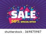 sale vector horizontal banner   ... | Shutterstock .eps vector #369875987