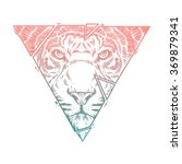 abstract  tiger head. hand draw | Shutterstock .eps vector #369879341