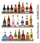 alcoholic beverages | Shutterstock .eps vector #369881261