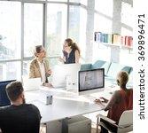 business people meeting... | Shutterstock . vector #369896471