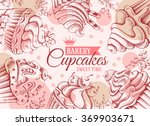 retro card design with sweet... | Shutterstock .eps vector #369903671