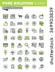 thin line icons set of online... | Shutterstock .eps vector #369903839