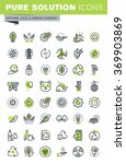 thin line icons set of... | Shutterstock .eps vector #369903869