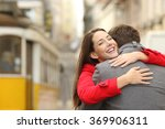 encounter of a happy couple... | Shutterstock . vector #369906311