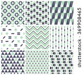 set of abstract geometric... | Shutterstock .eps vector #369908465