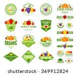 set of fruit and vegetables logo | Shutterstock .eps vector #369912824