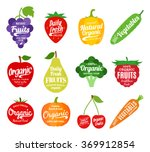 vector fruit and vegetables logo | Shutterstock .eps vector #369912854