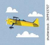 airplane in the sky. vector... | Shutterstock .eps vector #369915707