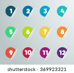 infographic 3d numbered step... | Shutterstock .eps vector #369923321