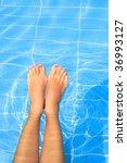 legs of a pretty woman enjoying ... | Shutterstock . vector #36993127