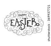 happy easter hand lettering... | Shutterstock .eps vector #369937721