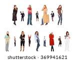 line of colleagues standing... | Shutterstock . vector #369941621