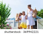 family coming home from... | Shutterstock . vector #369942221