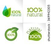 100  natural | Shutterstock .eps vector #369942305