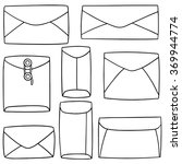 vector set of envelope | Shutterstock .eps vector #369944774