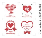happy valentines day. happy... | Shutterstock .eps vector #369944789