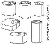 vector set of can | Shutterstock .eps vector #369945941