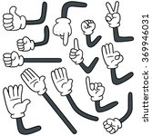 vector set of cartoon arm | Shutterstock .eps vector #369946031