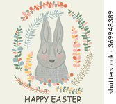 easter card with cute... | Shutterstock .eps vector #369948389