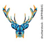 polygonal illustration of deer... | Shutterstock .eps vector #369948641