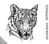 engrave ink draw tiger... | Shutterstock .eps vector #369950321
