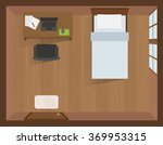 interior bedroom with laptop on ... | Shutterstock .eps vector #369953315