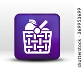 Basket Icon With Shadow And...