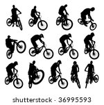 collection of 13 extreme... | Shutterstock .eps vector #36995593