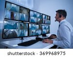 rear view of security system... | Shutterstock . vector #369968975