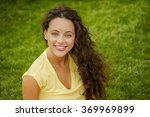 portrait of a smiling young... | Shutterstock . vector #369969899