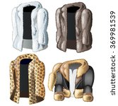 four jackets from the skins of... | Shutterstock .eps vector #369981539