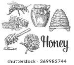 Honey Set. Jars  Bee  Hive ...