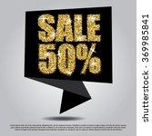 sale 50  off black banner... | Shutterstock .eps vector #369985841