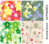 seamless tropical flower... | Shutterstock .eps vector #369986801