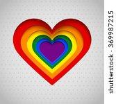 rainbow heart vector... | Shutterstock .eps vector #369987215