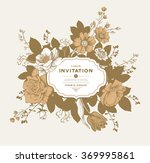 vector card with vintage... | Shutterstock .eps vector #369995861