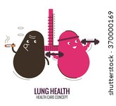 lungs of a healthy person and... | Shutterstock .eps vector #370000169