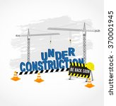under construction page cranes  ... | Shutterstock .eps vector #370001945
