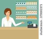pharmacist in drugstore ... | Shutterstock .eps vector #370002371