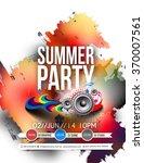 music party brochure  flyer ... | Shutterstock .eps vector #370007561