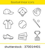 baseball linear icons set.... | Shutterstock .eps vector #370014401