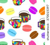 nice pattern with mosaic cup... | Shutterstock .eps vector #370015397