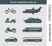 set of eight transport icons... | Shutterstock .eps vector #370015811