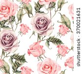 pattern with watercolor... | Shutterstock . vector #370021631