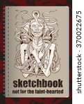 sketchbook cover with image of... | Shutterstock .eps vector #370022675