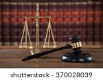 Closeup Of Wooden Mallet And...