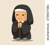 pastor and nun theme elements | Shutterstock .eps vector #370037381