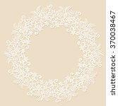 elegant white lace frame with... | Shutterstock .eps vector #370038467