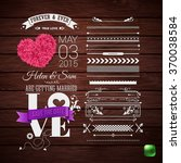 rustic wedding invitation.... | Shutterstock .eps vector #370038584